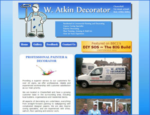 W Atkin Decorator Web Link and Screen Shot
