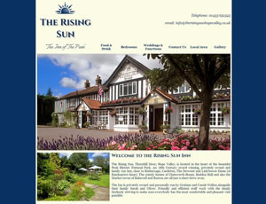 The Rising Sun Inn Web Link and Screen Shot